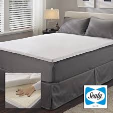 sealy 2 inch queen king cal king size latex mattress topper with