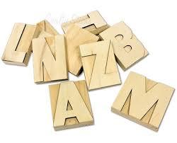 Decorative Letter Blocks For Home Natural Wood Letter Press Blocks For Wedding And Home Decor