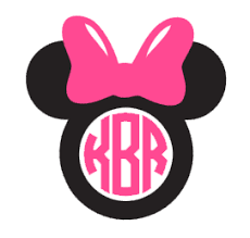 minnie mouse monogram minnie mouse monogram vinyl decal various sizes dixieland monogram