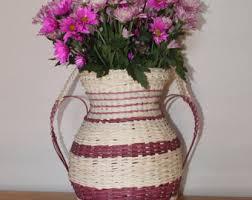 Vase Shaped Jug Wicker Urn Etsy