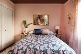 70s pink bedroom featured on domino