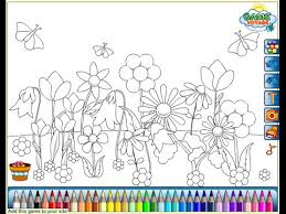 flower garden coloring pages kids flower garden coloring
