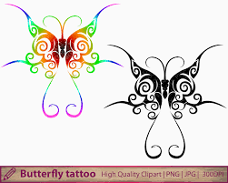 butterfly clipart abstract design clip