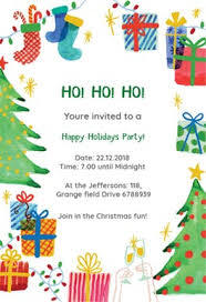 christmas invitations free christmas party invitation templates greetings island