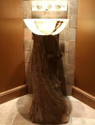 diy bathroom vanity ideas bathrooms rustic tree trunk bathroom vanity with bowl shaped