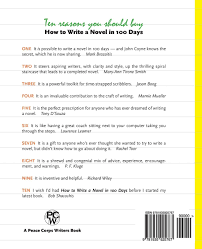 how to write a novel in 100 days with tips about agents editors