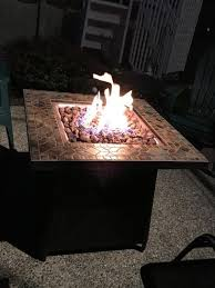 outdoor gas fire pit table hton bay 50 000 btu 30 in cross ridge outdoor gas fire pit table