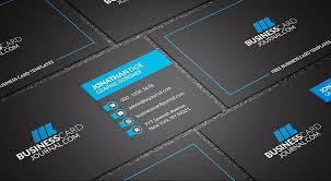 free dark u0026 bold corporate business card template