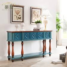bedroom console table mediterranean blue living room with solid wood console table desk
