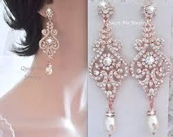 Chandelier Pearl Earrings For Wedding Gold Chandelier Earrings 4 Long Gold Crystal Wedding