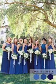 mix and match bridesmaid dresses by colours