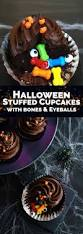 spooky stuffed halloween cupcakes a side of sweet