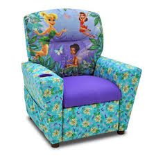 Youth Recliner Chairs Kidzworld Disney U0027s Fairies Kids Recliner With Cup Holder U0026 Reviews
