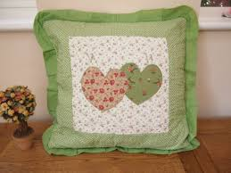 buy shabby chic vintage green star patchwork cushion covers 18
