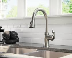 pulldown kitchen faucet 772 bn brushed nickel pull kitchen faucet