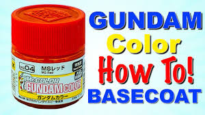 gundam painting tutorial how to mr color hand painted primer