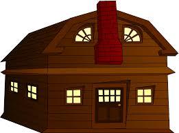 clipart halloween horror house small