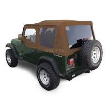 jeep wrangler top offroad jeep wrangler yj top in spice sailcloth tinted