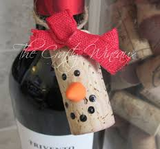 choose your color wine cork snowman christmas ornaments wine