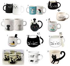 coffee mugs cat tea cups