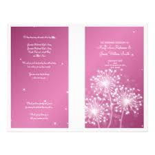 Elegant Wedding Program Pink Rose Wedding Program Gifts T Shirts Art Posters U0026 Other