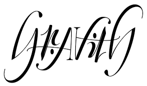 tattoo design gravity ambigram tattoo for client on behance