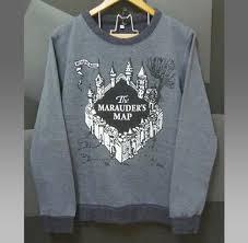 Harry Potter Map Marauder U0027s Map Shirt Harry Potter Sweater Castle Winter Jumper