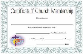Church Membership Certificate Template sle membership certificate 13 documents in pdf psd