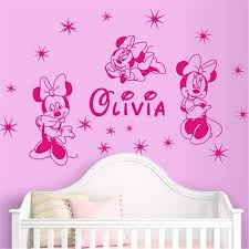 decoration chambre minnie personalized name room decoration decals customize minnie mouse