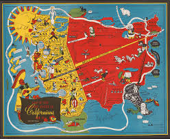 Map The United States by 9 Quirky Colorful Pictorial Maps From Mid Century America
