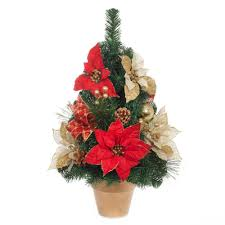 poinsettia tree home accents 24 in h and gold poinsettia tree in gold