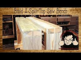 build a 10 split top saw bench for woodworking short version