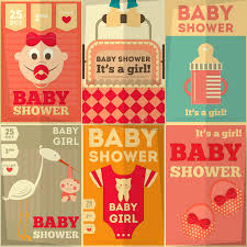baby shower posters baby shower posters stock illustration illustration of