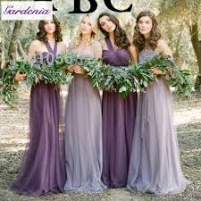 wedding dress garden party modest lilac vestido de festa bridesmaid dresses soft tulle