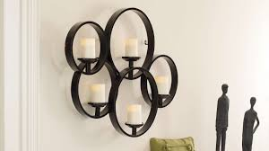 iron scroll wall art metal wall art with candles takuice com