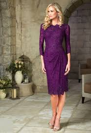 purple dresses for weddings knee length free shipping 2015 purple of the lace