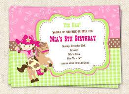 cowgirl birthday invitations templates