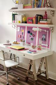 Blue Bookcases Love The Sawhorse Desk Thing Need Something Like This To