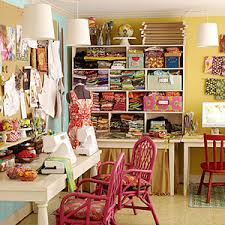 Craft Room Makeovers - a chic craft room makeover
