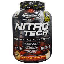 muscletech nitro tech whey isolate lean musclebuilding vanilla