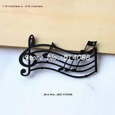 Musical Note Ornaments 12pcs Lot 89 Mm Black Acrylic Notes Necklace Cutout