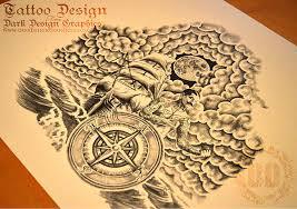 a pirate ship custom tattoo design on behance