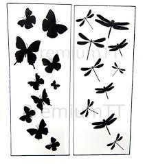 dragonfly butterfly black temporary tattoos premium temporary
