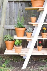 diy outdoor tiered ladder garden love u0026 renovations