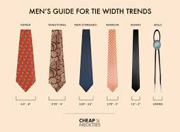 s guide to necktie width trends six different tie widths to