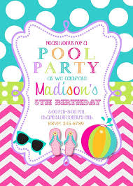 pool party invitations 15 pool party birthday party invitations with envelopes swimming