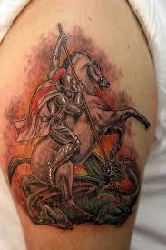 st george and dragon tattoo www facebook com flamingarttat u2026 flickr