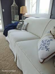 white slipcovers for sofa heavyweight washed white denim sofa slipcover custom made for