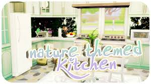 4 Room House by Nature Themed Kitchen The Sims 4 Room Build Youtube