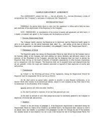 Employment Contract Template 40 great contract templates employment construction photography etc